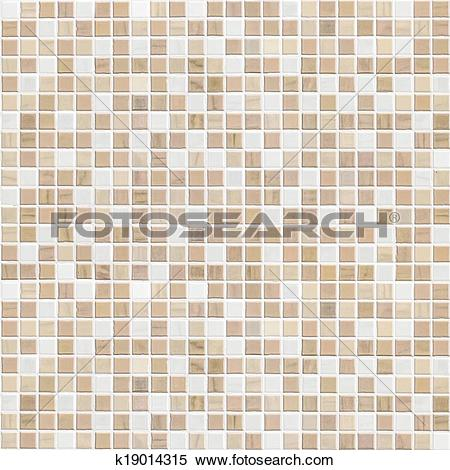Stock Image of delicate color brown mosaic tile wall k19014315.