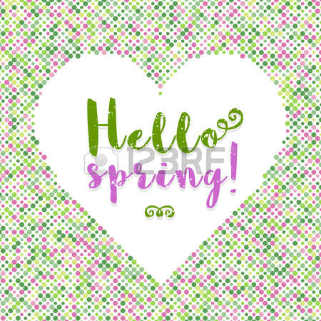 Spring color dot clipart.