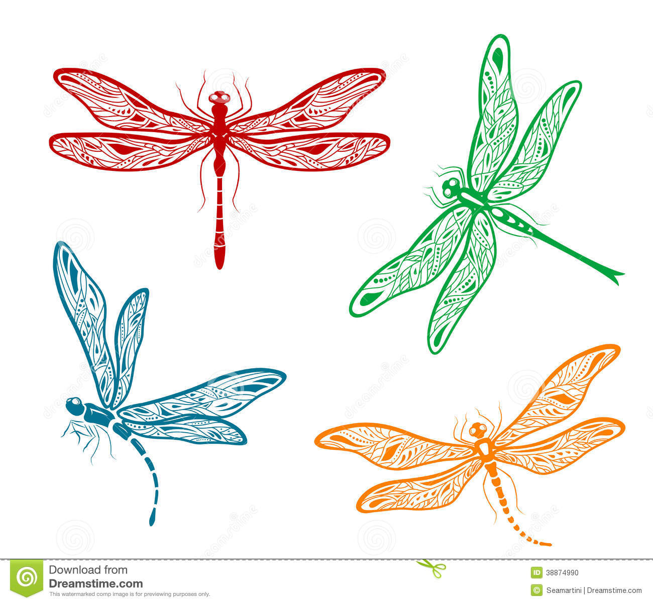 Dragonfly vector.