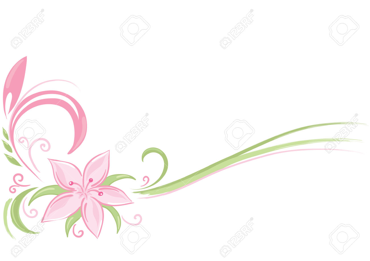 Delicate Pink Flowers Clipart Clipground