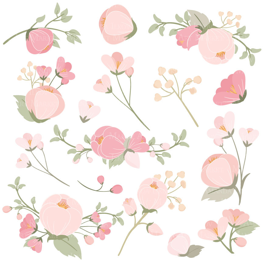 Soft Pink Flower Clipart Clipground