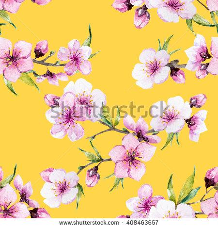 Watercolour Flowers Banco de Imagens, Fotos e Vetores livres de.