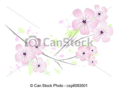 Vector Clip Art of Pink flower.