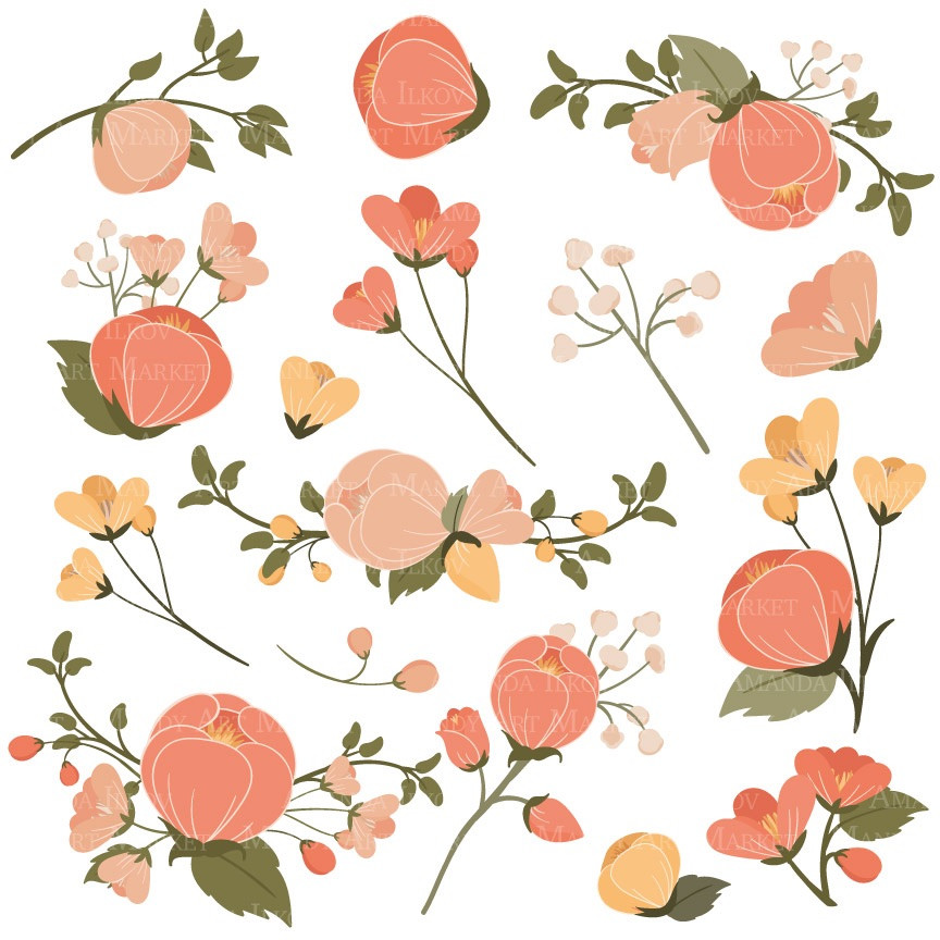 Delicate pink peach flower clipart 20 free Cliparts ...