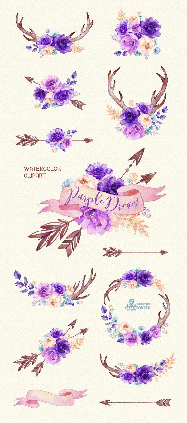 Delicate violet clipar...Clipart Flowers And Butterflies Border