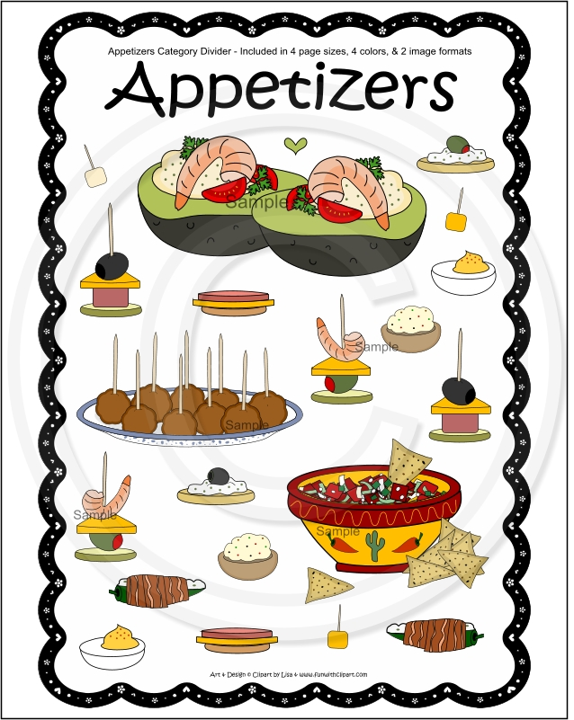 Appetizers Clipart.
