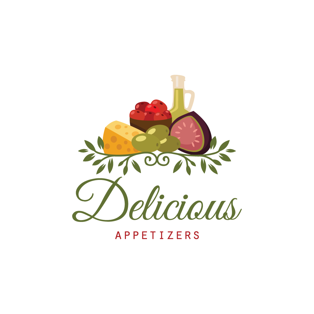 Delicious Appetizers Logo Design.
