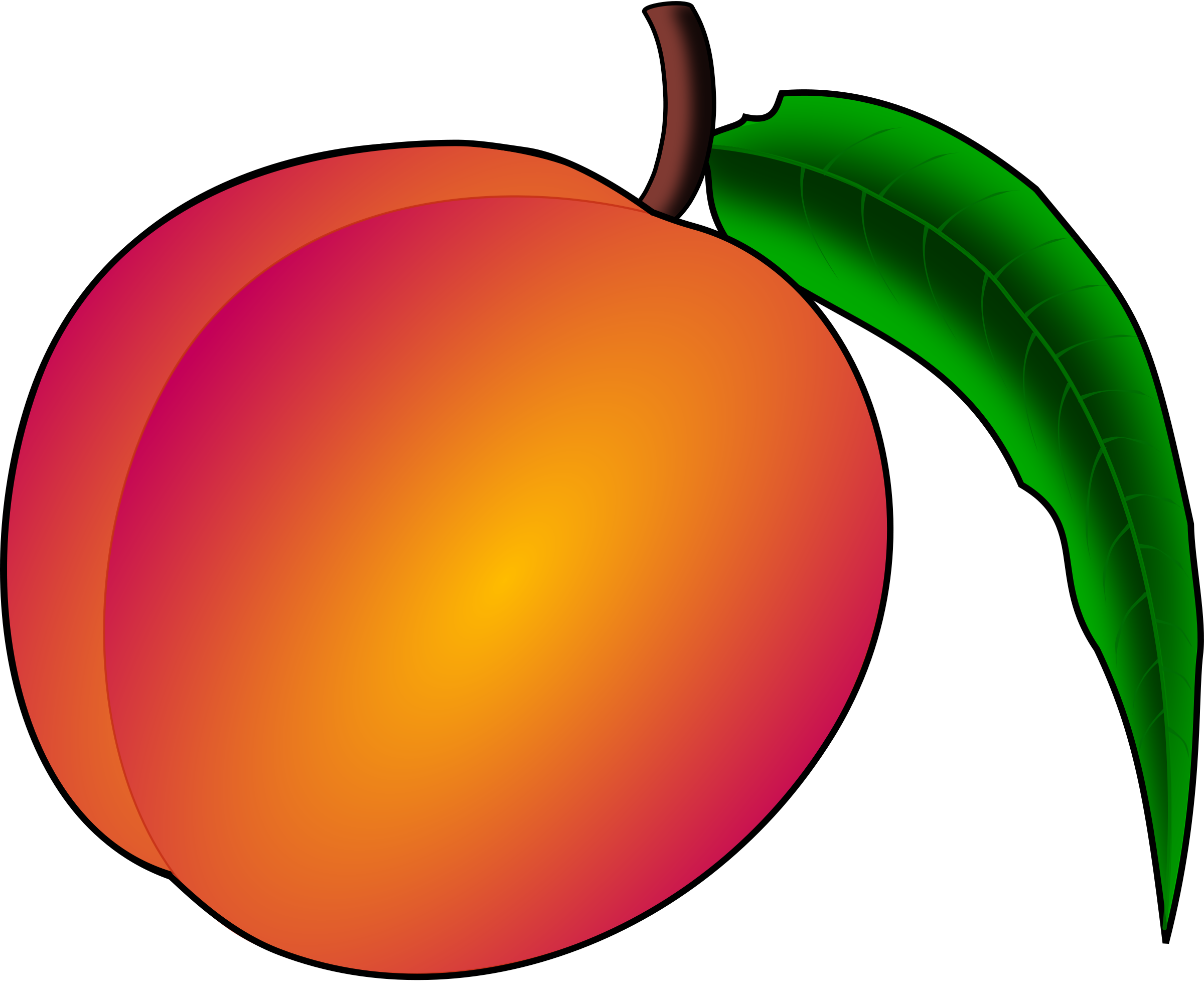 Peach clipart image beautiful drawing of a luscious delicious.