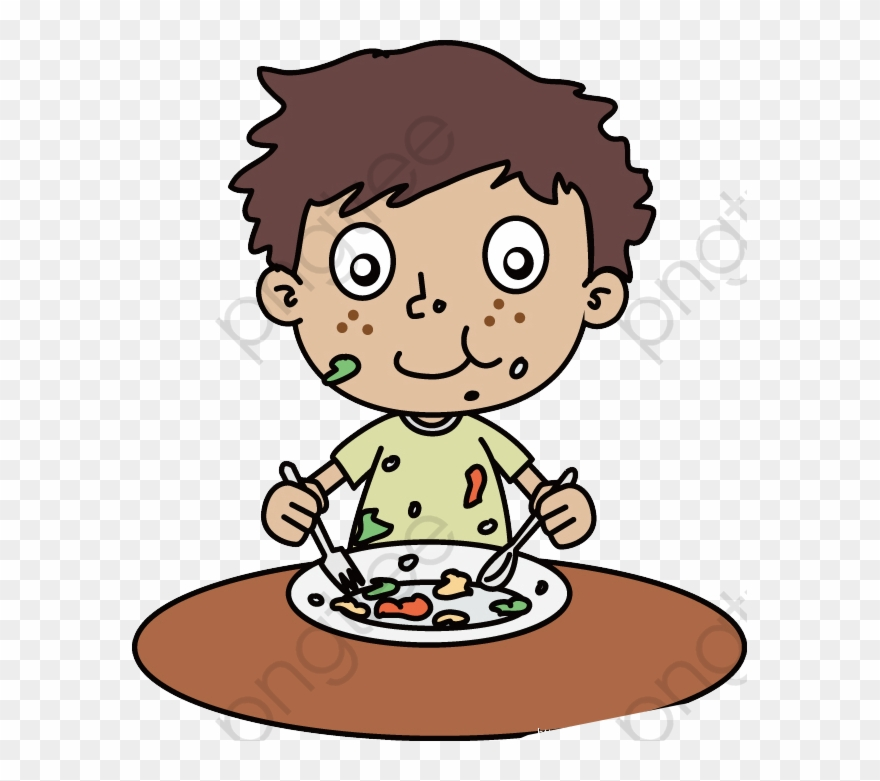 Eat A Messy Boy, Boy Clipart, Hunger, Delicious Png.