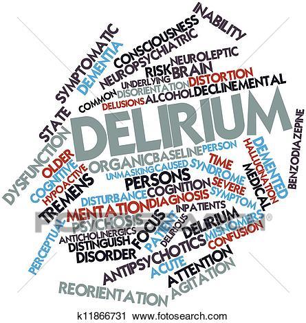 Delirium Clip Art.