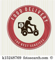 Delivery food Clipart Vector Graphics. 6,683 delivery food EPS.