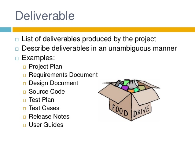 Deliverable clipart clipground for Project deliverable template