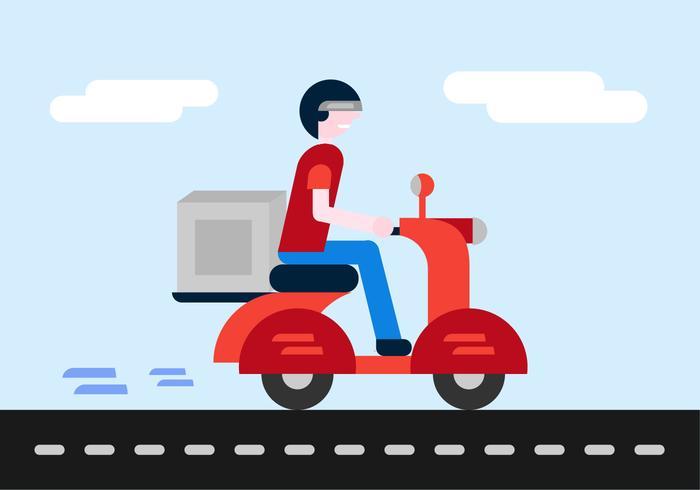 Delivery Boy Vector.