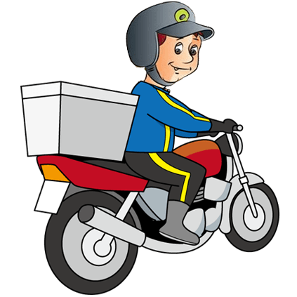 Delivery Boy Clipart.