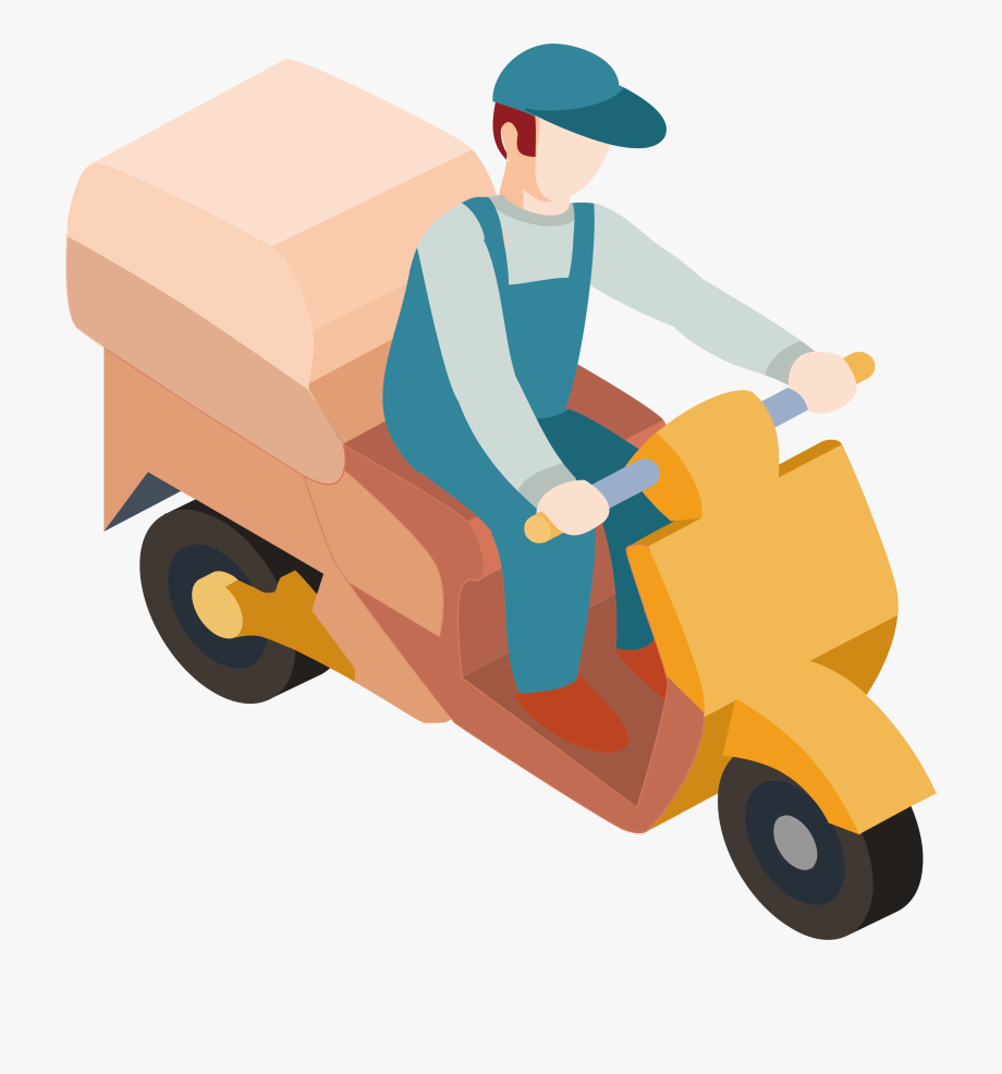 Clip Art Delivery Man Clipart.