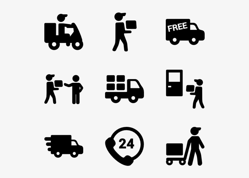 Free Shipping Clipart Delivery Van.