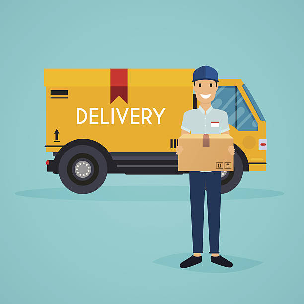 Best Delivery Person Illustrations, Royalty.