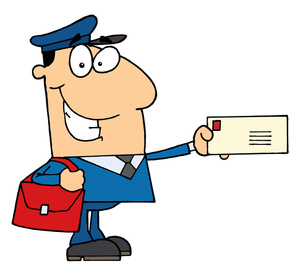 Clipart mail delivery.
