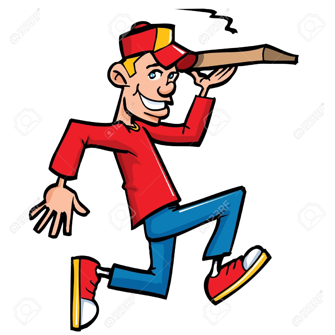 Delivery guy clipart.