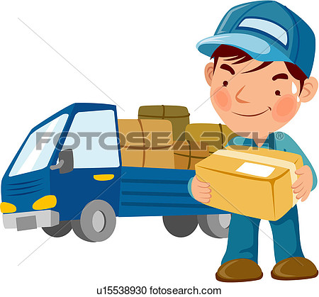 Delivery clipart - Clipground Package Delivery Clipart