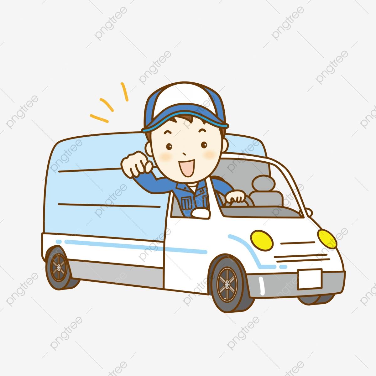Truck Driver, Truck Clipart, Driver Clipart, Cartoon Car PNG.