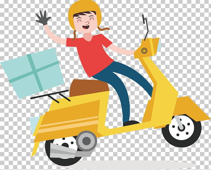 Delivery Euclidean Courier Scooter PNG, Clipart, Cars, Cartoon.