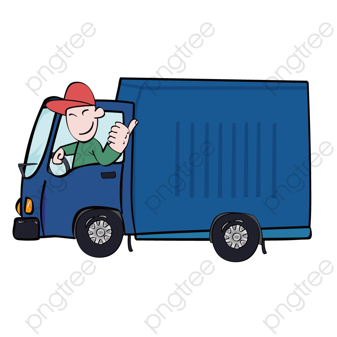 Open Truck Driver, Truck Vector, Truck Clipart, Driver Clipart PNG.