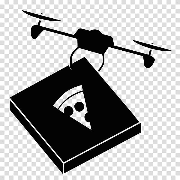 Unmanned aerial vehicle Pizza delivery Logo, drones.