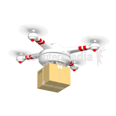 Drone Carrying Delivery Box.