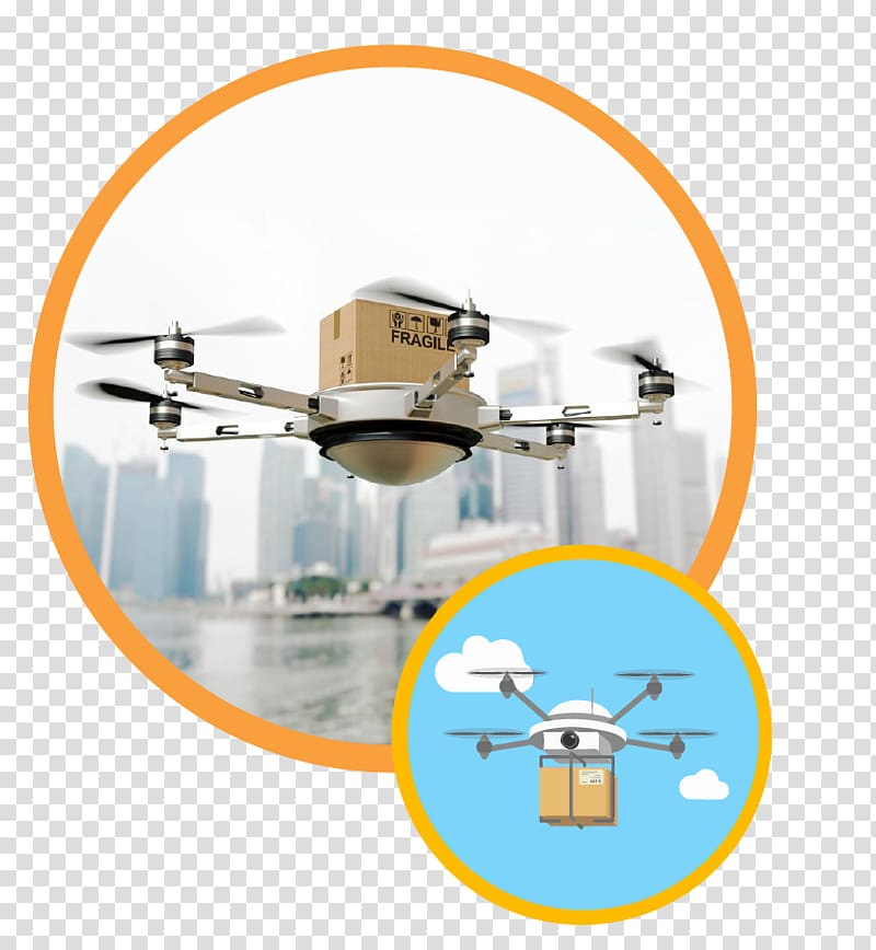 Delivery drone Unmanned aerial vehicle Package delivery.