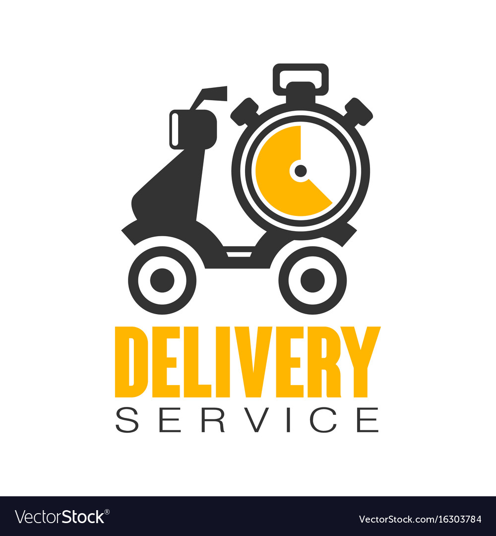 Delivery service logo design template.