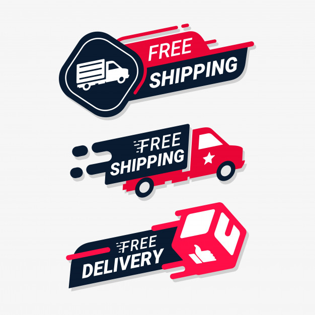 Free shipping delivery service logo badge Vector.