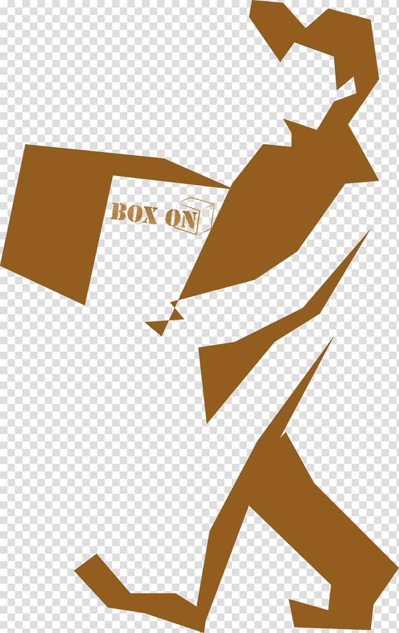 Package delivery Logo, carrying transparent background PNG.