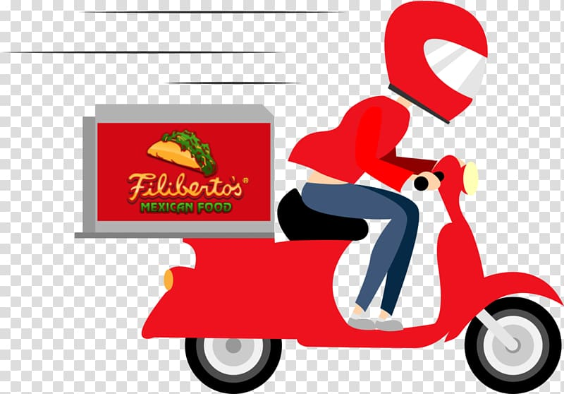Delivery Online food ordering Pizza Courier Restaurant.