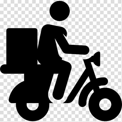 Scooter Motorcycle Delivery Computer Icons Transport.