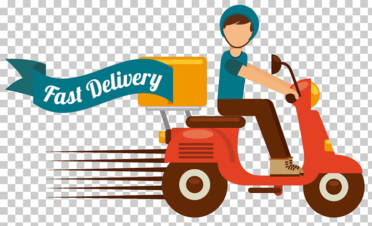 Graphics Delivery Illustration Motorcycle, DELIVERY FOOD PNG.
