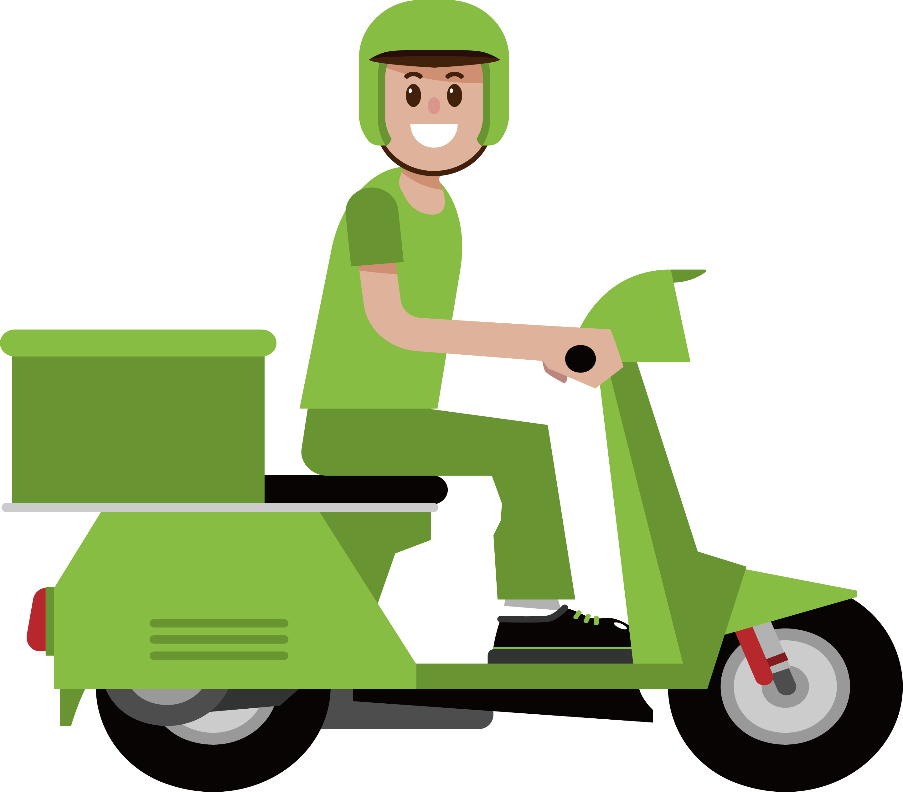 Motorcycle Clipart Pizza.