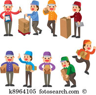 Delivery person Clipart Royalty Free. 5,250 delivery person clip.