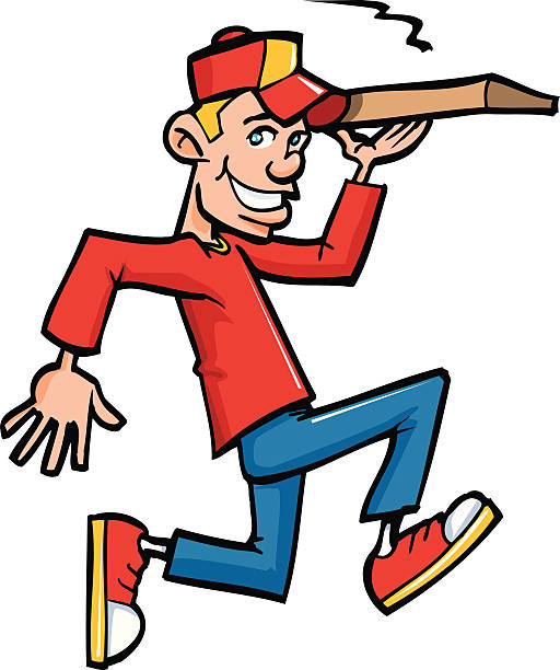 Pizza Delivery Guy Clip Art, Vector Images & Illustrations.