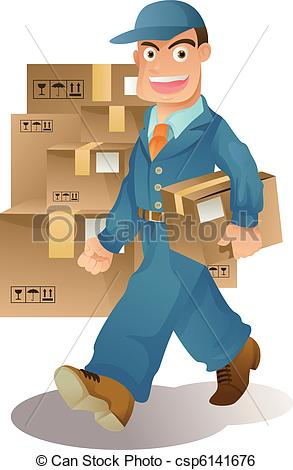Delivery man Illustrations and Clip Art. 8,404 Delivery man.