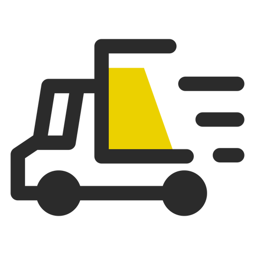 Fast delivery colored stroke icon.
