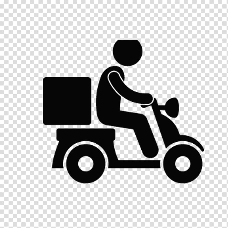 Person driving motorcycle , Delivery Chinese cuisine Transport Icon.
