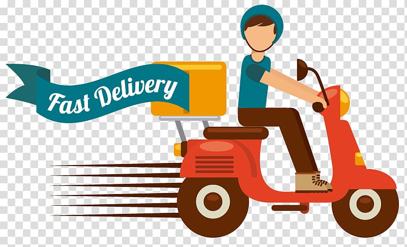 Graphics Delivery Illustration Motorcycle, DELIVERY FOOD transparent.