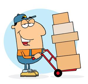 Clip Art Delivery Box Clipart.