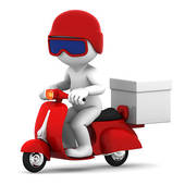 Clip Art of Scooter silhouette.