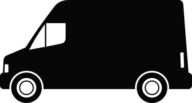 Best Delivery Truck Silhouette Illustrations, Royalty.