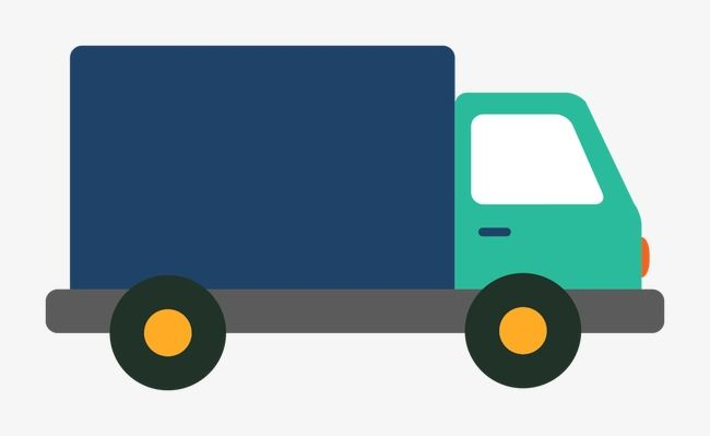 Vector Delivery Truck, Truck Clipart, Vector, Flat PNG and Vector.