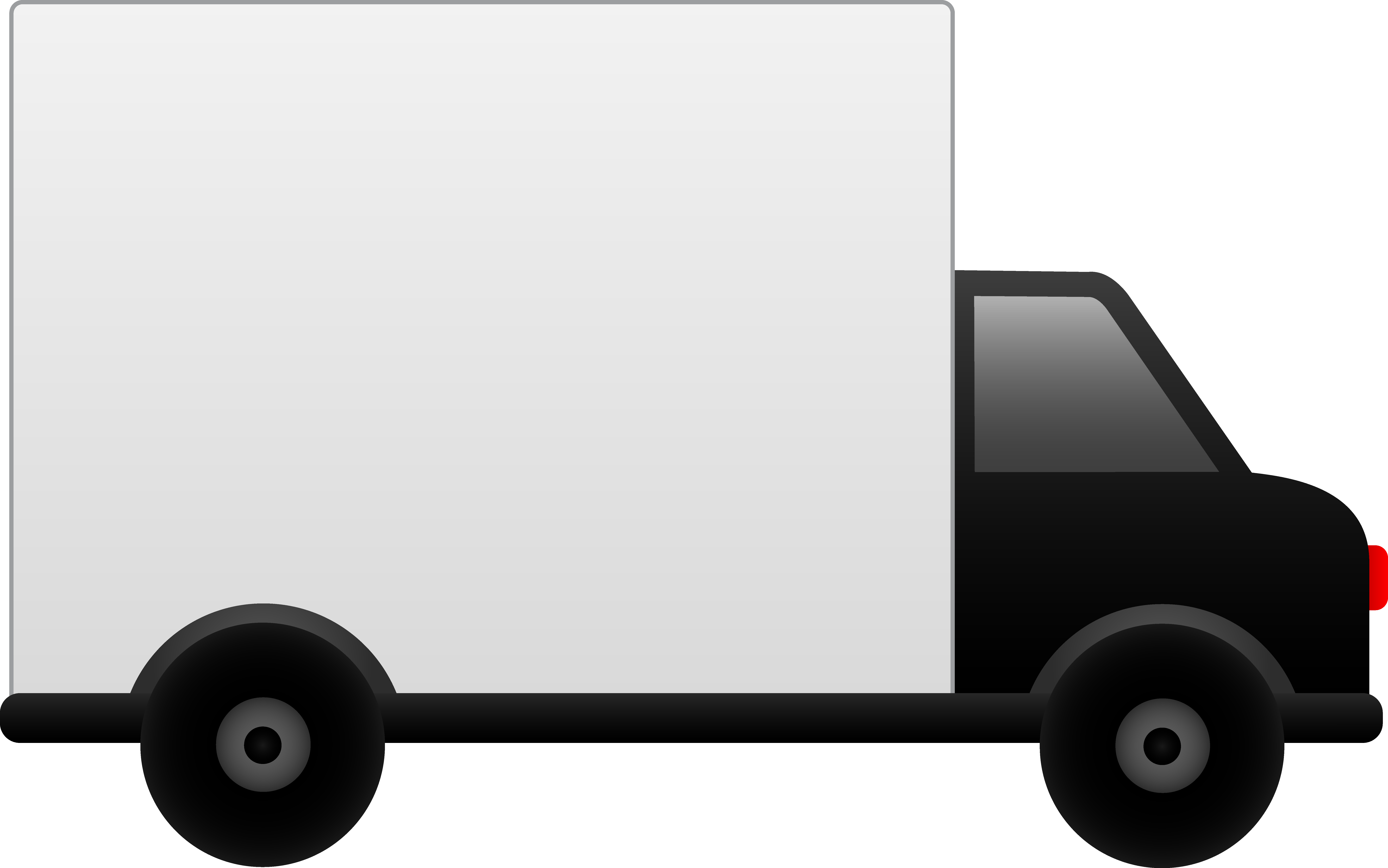 White Delivery Truck.