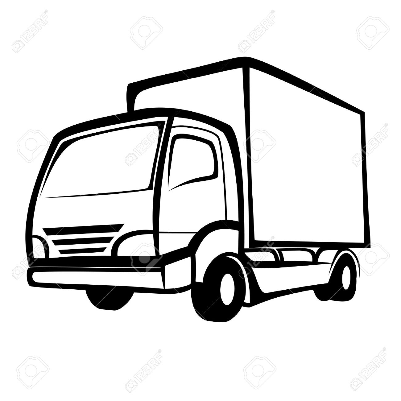 471 Delivery Truck free clipart.
