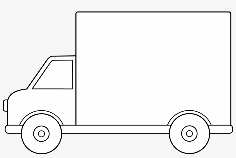 Delivery Truck Line Art.